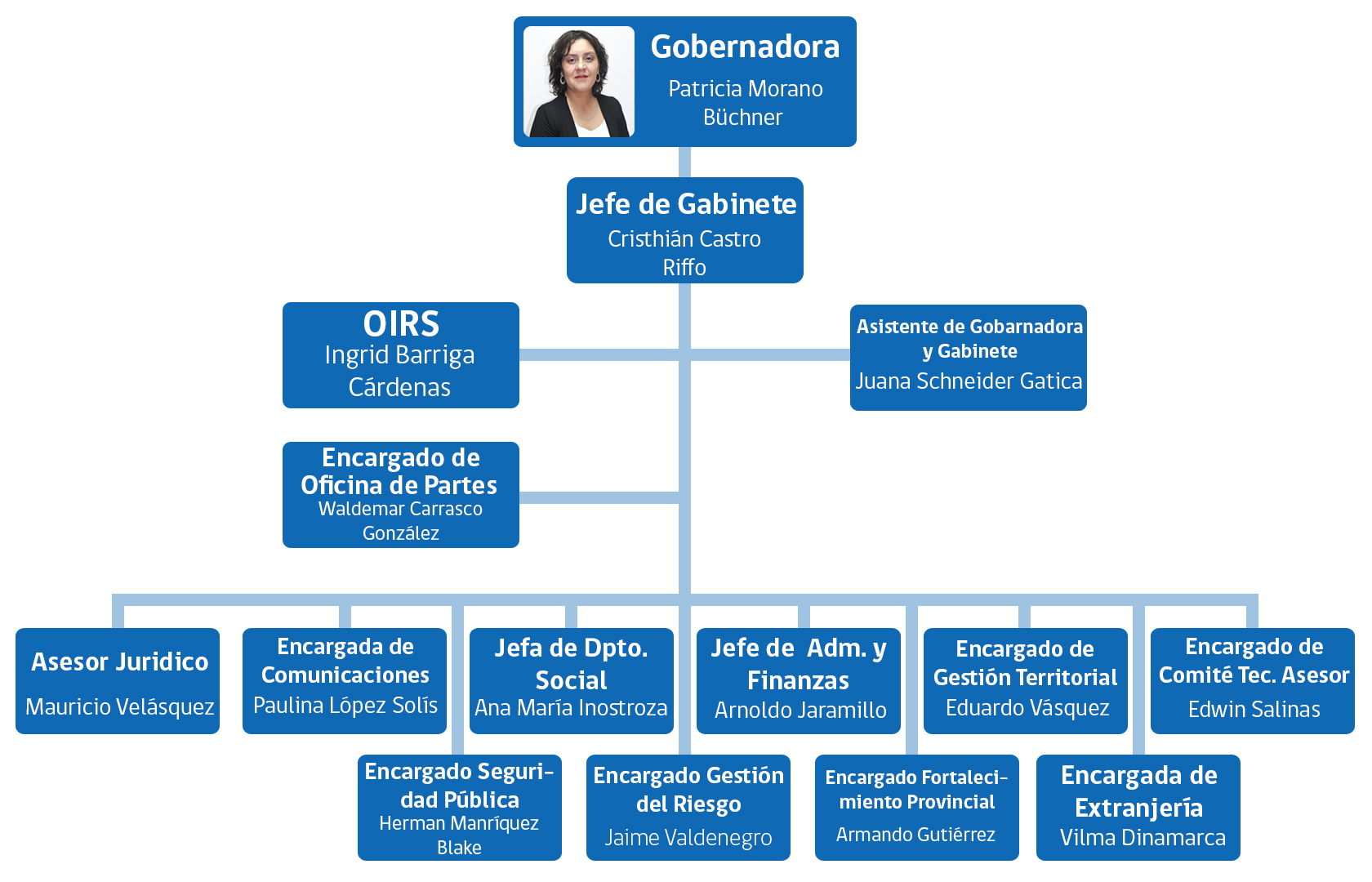 Organigrama gobernaci n provincial de valdivia - Estructura ministerio del interior ...